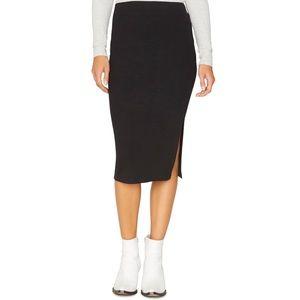 Sanctuary | Black Rib Pencil Midi Skirt